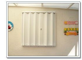 Storm Protection - Accordion Shutters